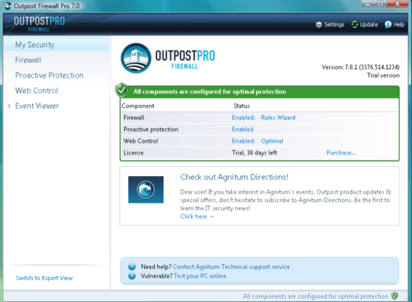 Outpost Firewall Pro is one of the best free firewall for Windows.