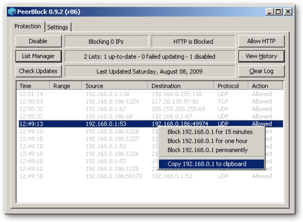 PeerBlock is one of the best free firewall for Windows.