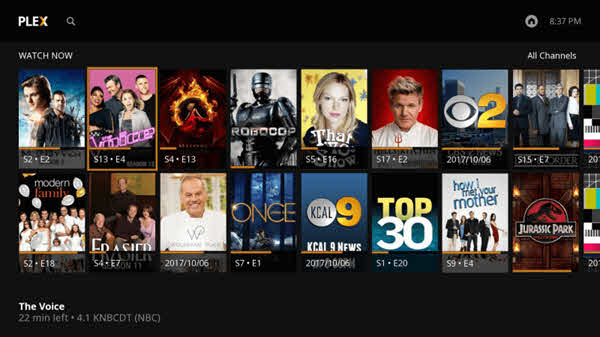 Plex is one of the top best free media players for Windows.