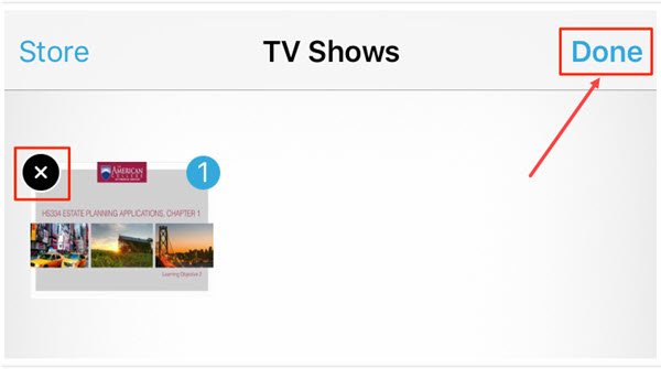 How to Delete Your Videos/Movies/TV shows from iPhone/iPad in Video App