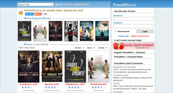 PrimeWire is one of the best free online movie streaming sites.