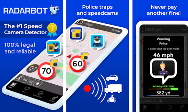Radarbot Speed Camera Detector is one of the best hidden camera detector Apps.