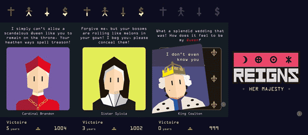 Reigns: Her Majesty is one of the best free offline Android games.