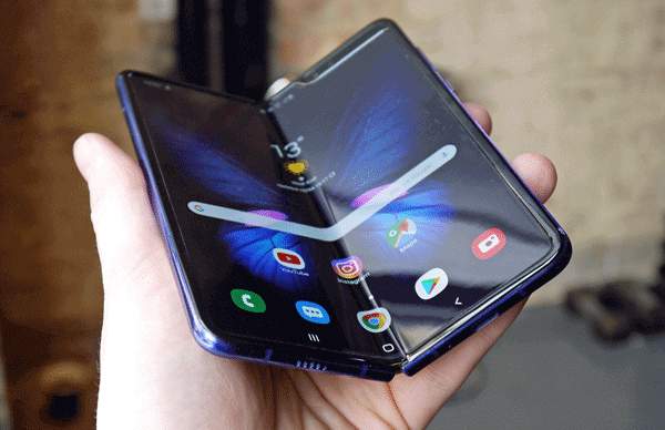 Samsung Galaxy Fold is one of the best 5G supported Android mobiles.