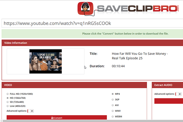 SaveClipBro is one of the top free online YouTube downloaders.