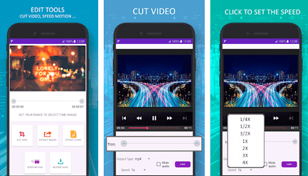 Slow Motion Video Maker With Music is one of the top slow motion video and camera Apps for Android.