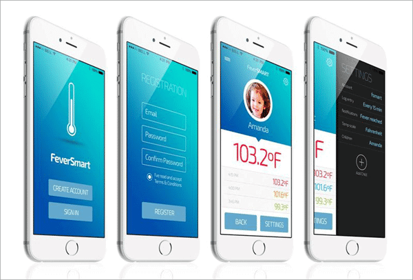 Smart Thermometer is one of the top free Thermometer Apps for Android and iOS.