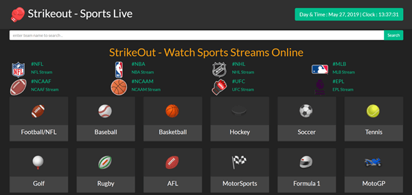StrikeOut is one of the best Sports Streaming Sites Like MyP2P.
