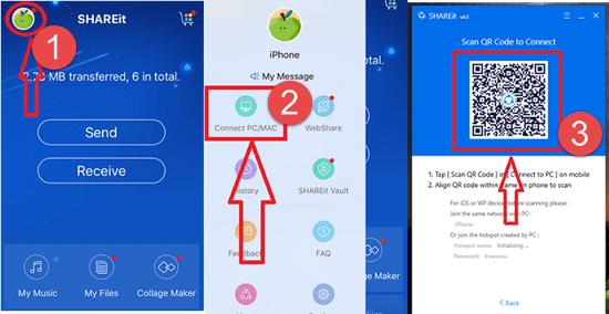 Using ShareIt - An iOS App for File Transfer