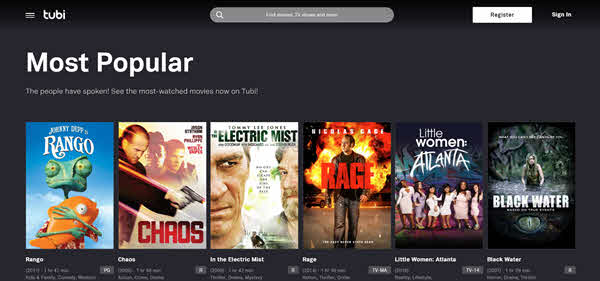 Tubi TV is one of the best free online movie streaming sites.