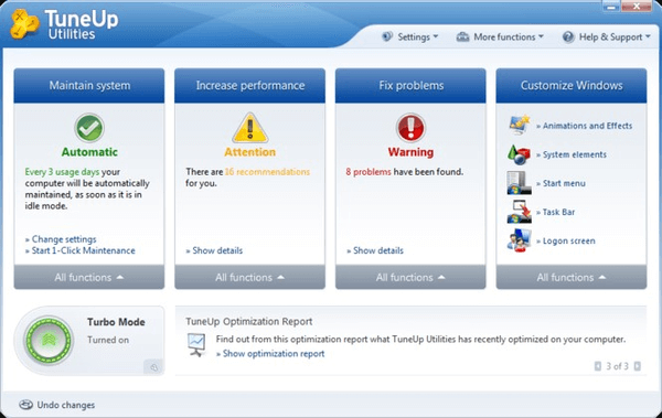 Tuneup Utilities is one of the top best junk file cleaner software.