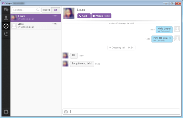 Viber is one of the top video call software for Windows PC.