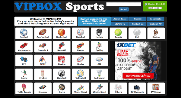 VipBox is one of the best Sports Streaming Sites Like MyP2P.