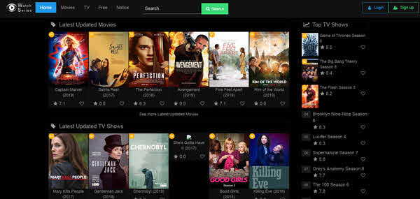 Watch Series is one of the best free online movie streaming sites.