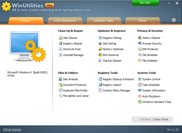 WinUtilities Pro is one of the best PC cleaning software for Windows.