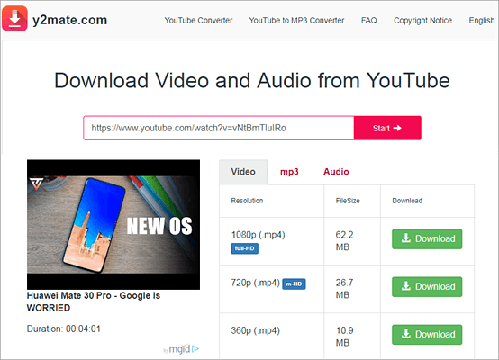 Y2Mate is one of the top free online YouTube downloaders.
