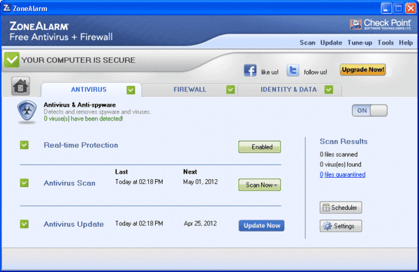 ZoneAlarm is one of the best free firewall for Windows.