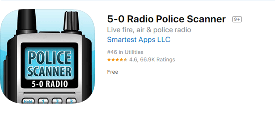 5-0 Radio Police Scanner offers first-hand information on weather, natural disasters, and crime updates.