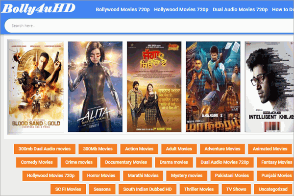 Bolly4uHD is a free movie streaming website specially designed to make Blu-ray movies available to users.