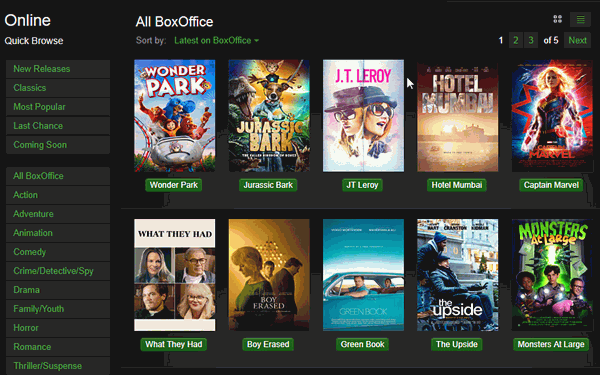 BoxOffice is the complete package with all the features of an online movie streaming website.
