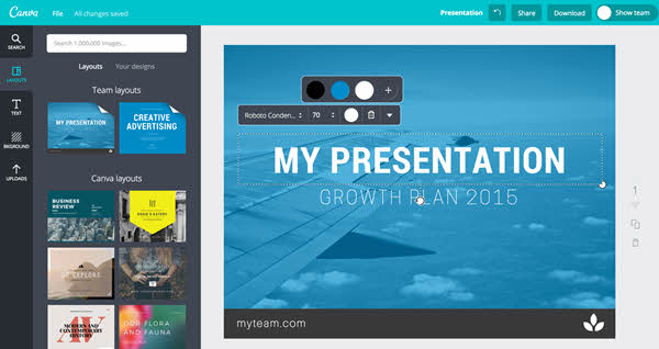 Canva will act as your graphic design kit.