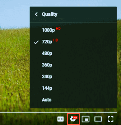 Change the video resolution while streaming