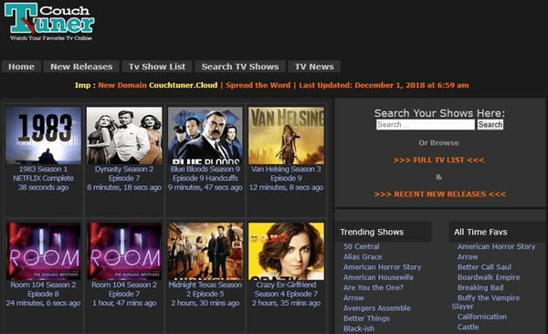 Couch Tuner is a great choice for users who want to download different movies on their devices to watch them offline.