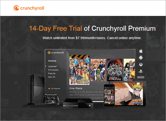 Crunchyroll is one of the best alternatives to 9Anime for watching Anime Movies and TV Shows.