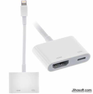 Use Lightning Digital AV Adapter to Mirror iPhone to Smart TV.