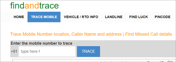 Using Find and Trace to trace phone numbers with name and address.