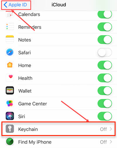 By turning off the iCloud Keychain