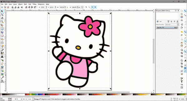 Using InkScape to Remove Photo Background