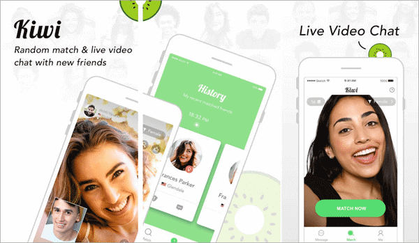 Kiwi - Live Video Chat Best Alternative Video Chat Apps like Camsurf.