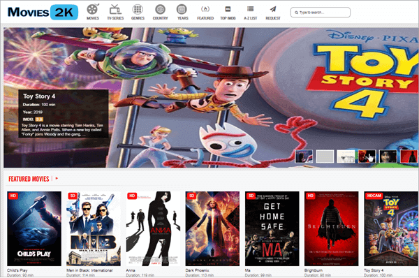 Movie2k  provides a safe and clean interface for watching full-length movies online.