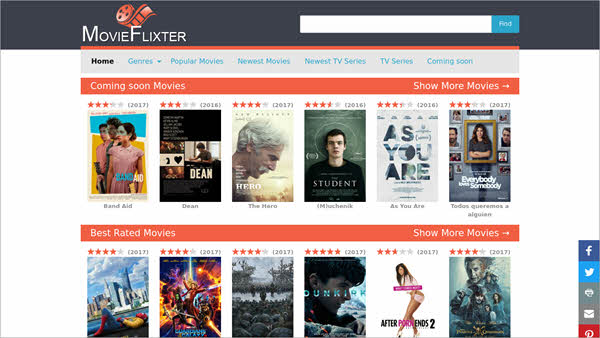 MovieFlixter also offers streaming links apart from providing HD movies.