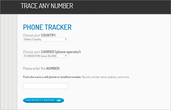 Using Online GPS Phone Tracker to trace mobile number current location online.
