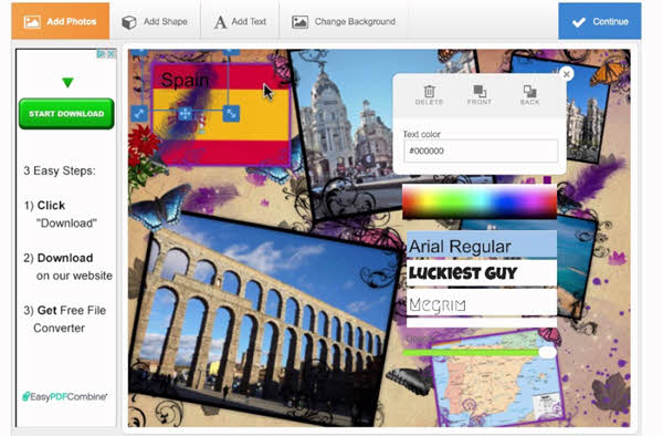 Photovisi is an excellent YouTube banner maker if you are looking forward to adding a collage to your YouTube banner.