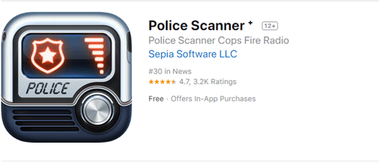 Police Scanner+ allows you to listen to thousands of police and fire scanners around the world on your iPhone.