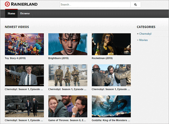 Rainierland is a recommended website for unique streaming of entertainment videos.