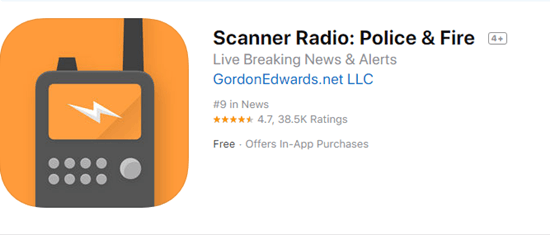 Scanner Radio: Police & Fire is one of the best police scanner apps on the iPhone.