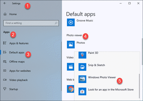 How to Set Windows Photo Viewer as Default App in Windows 10