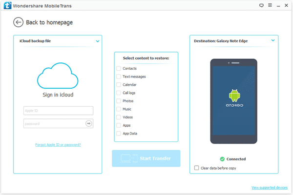 One-stop Solution to Access All iCloud Data on Android