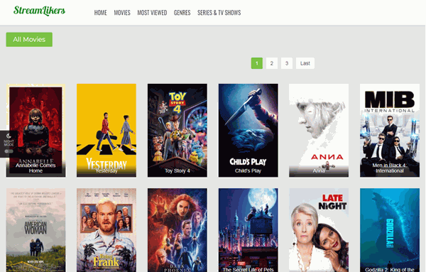 StreamLikers is a huge library of highly popular movies and TV shows with its ratings.