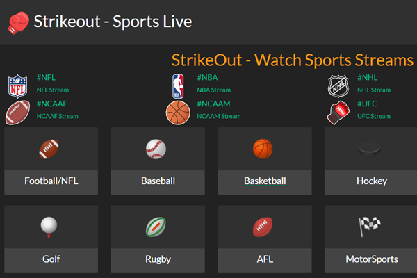 StrikeOut is a completely different alternative to Streamcomando.