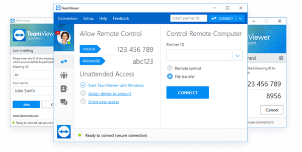 TeamViewer is the most popular Virtual Network Computing software available for free.