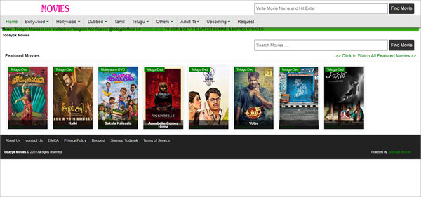Using Todaypk Movies to download games and old movies.