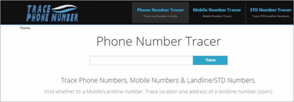 Using Trace Phone Number to trace phone numbers with name and address.