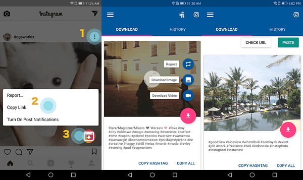 Using Video Downloader for Instagram (Android)