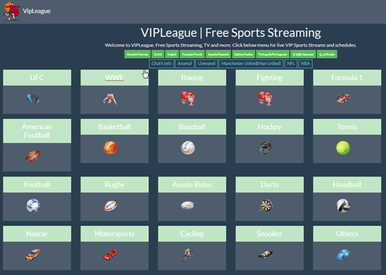 VIPLeague is an amazing alternative site to Stream2Watch in terms of features and services.