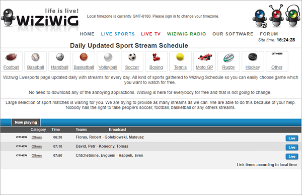 WiziWig is a popular live sports streaming website with millions of users and subscribers.